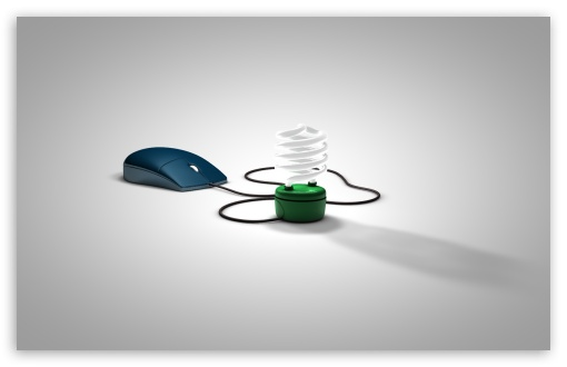 Download Mouse with Light UltraHD Wallpaper