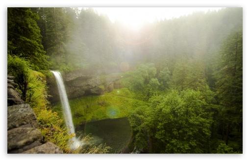 Download Forest Waterfall UltraHD Wallpaper