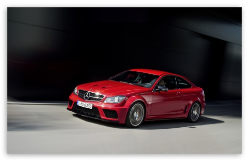 Download Mercedes Benz C 63 Amg Red Coupe UltraHD Wallpaper