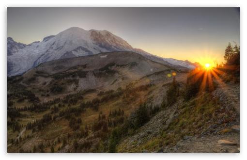 Download Mount Rainier National Park HDR UltraHD Wallpaper