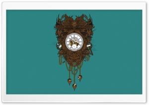 Victorian Clock Vector Art