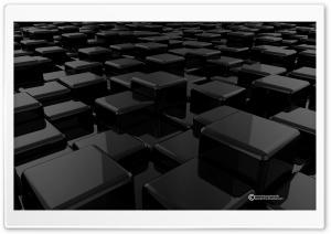 3D Cubes Black