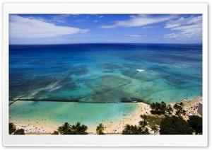 Aerial View Of Hawaii Beach
