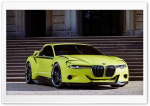 BMW Yellow Concept Car
