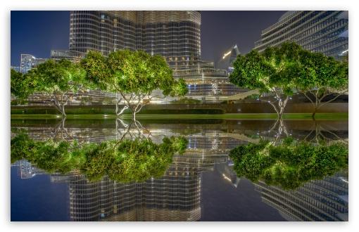 Download Dubai City Night UltraHD Wallpaper
