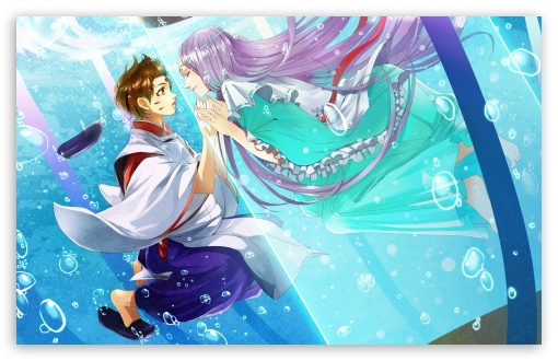 Download Anime Couple UltraHD Wallpaper