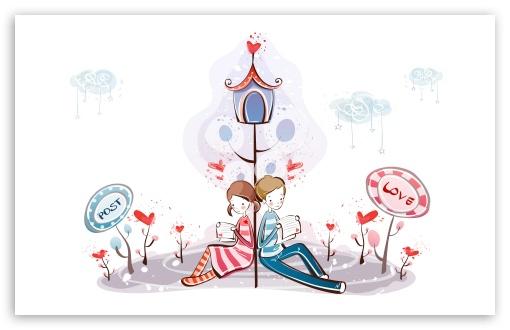 Download Reading Love Letter UltraHD Wallpaper