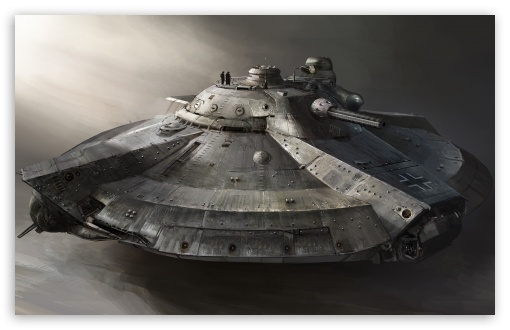 Download Armored Flying Ship UltraHD Wallpaper