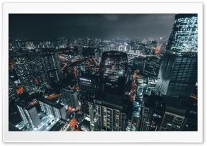 City at Night Panoramic View