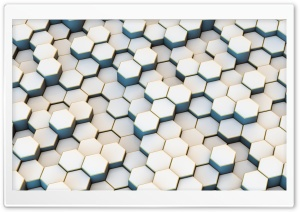 White Hexagons Background