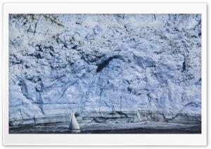 Sailboat Alongside Glacier...