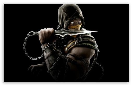 Download Mortal Kombat X Scorpion UltraHD Wallpaper