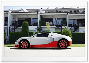 Bugatti Veyron White and Red