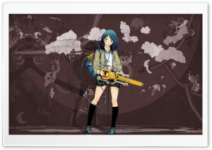 Anime Girl With Chainsaw