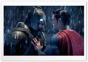 Batman Superman Face Off