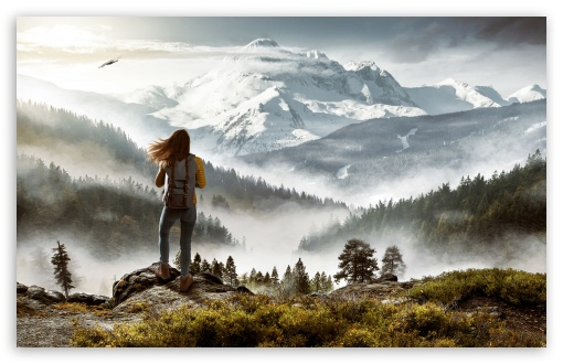 Download Hiker UltraHD Wallpaper