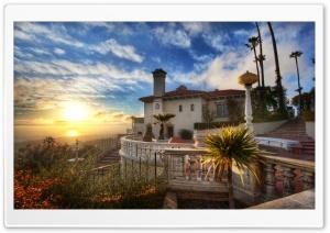 Sunset At Hearst Estate