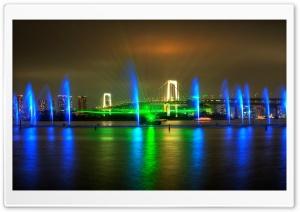 Rainbow Bridge Light Show in...