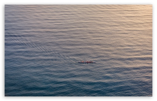 Download People Rowing a Boat UltraHD Wallpaper
