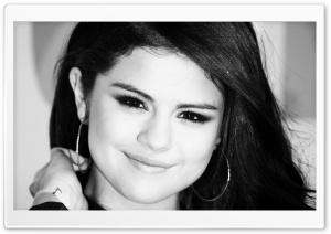 Selena Gomez Black And White
