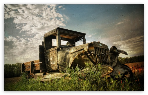 Download Old Rusty Car UltraHD Wallpaper