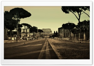 Colosseum Street, Rome, Italy
