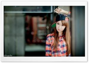 Asian Girl, Checkered Shirt...
