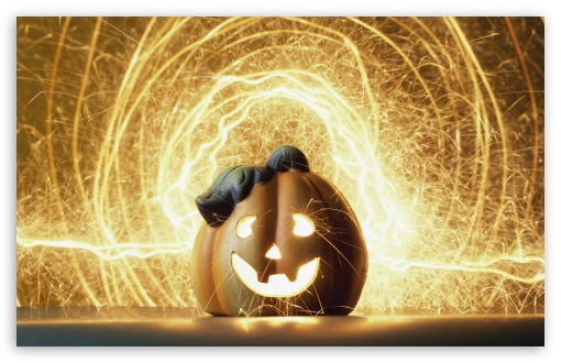 Download Halloween Lightshow UltraHD Wallpaper