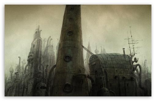 Download Tower, Machinarium Game UltraHD Wallpaper