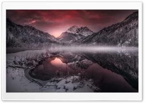 Mountain Lake, Mist, Winter