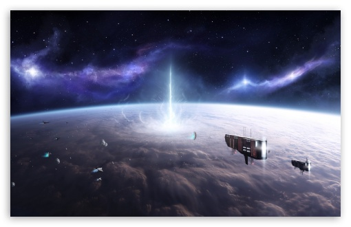 Download Above a Planet UltraHD Wallpaper