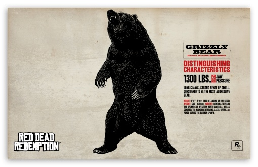 Download Red Dead Redemption Grizzly Bear UltraHD Wallpaper