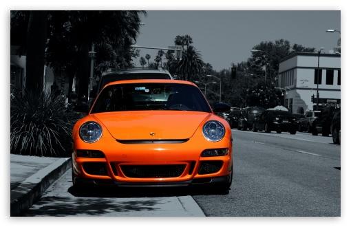 Download Orange Porsche 911 UltraHD Wallpaper