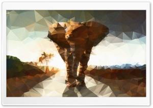 Elephant polygon illustration