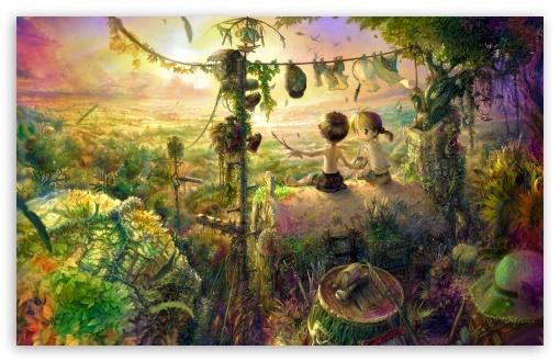 Download Childhood Painting UltraHD Wallpaper