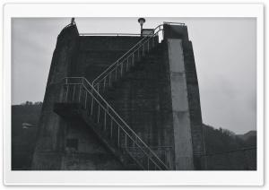 Dam Stairs Black And White