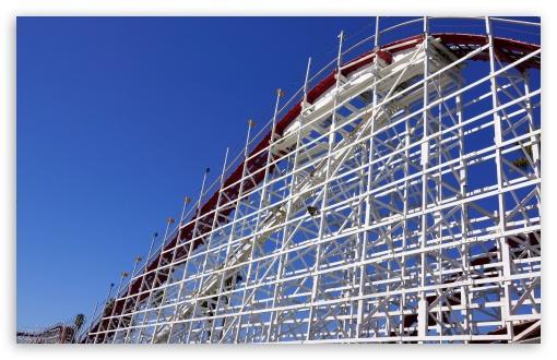 Download Roller Coaster, Santa Cruz Beach UltraHD Wallpaper