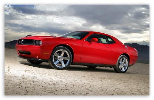 Download Red Dodge Challenger RT UltraHD Wallpaper