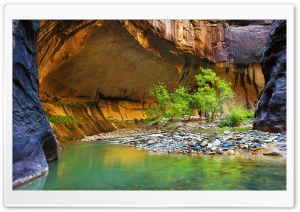 Canyon With Little River Stones