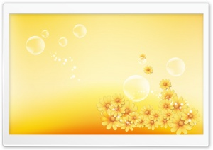 Yellow Flowers And Bubbles
