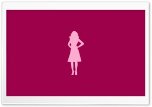 Pink Girl Silhouette