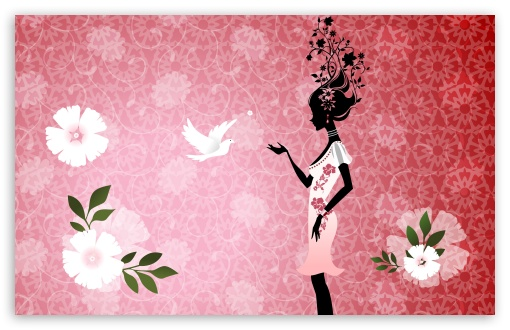 Download The Flower Girl UltraHD Wallpaper
