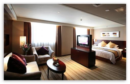 Download Modern Hotel Room UltraHD Wallpaper