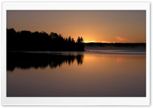 Peaceful Lake At Dusk 1
