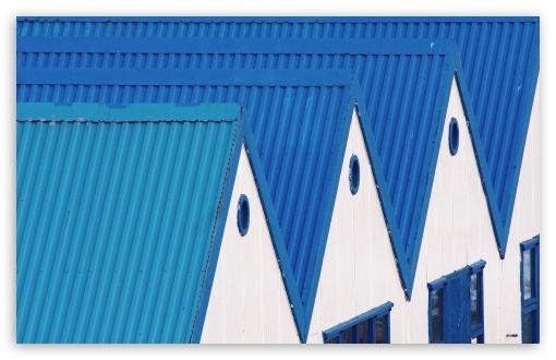Download Blue Roofs UltraHD Wallpaper