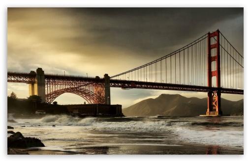 Download San Francisco Bridge HDR Tone Mapped UltraHD Wallpaper