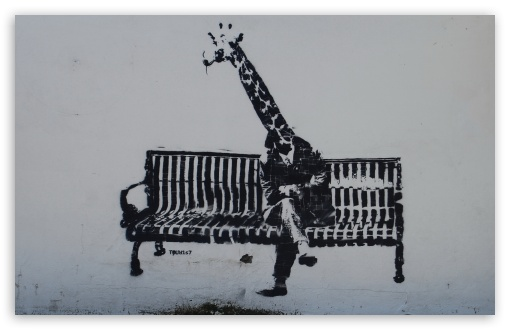 Download Giraffe Graffiti UltraHD Wallpaper