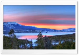 Mountain Lake Sunset Nature