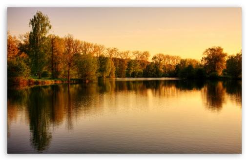 Download Park Lake, Autumn UltraHD Wallpaper