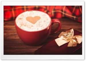 Cappuccino With Heart On Foam